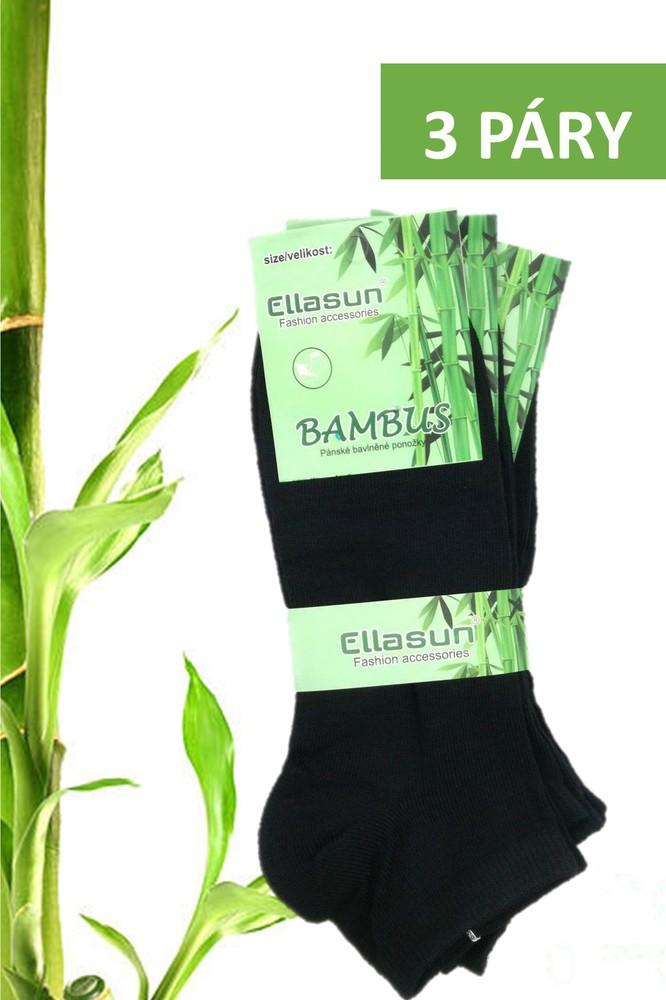 Ellasun pánské bambusové ponožky kotníkové černé 3 páry - PÁNSKÉ PONOŽKY -  Galanto.cz 3bbab849f6