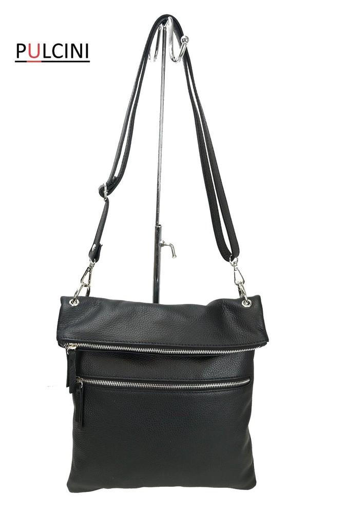Dámská velká kožená kabelka černá Made in Italy - Kožené kabelky -  Galanto.cz b0a549e953c