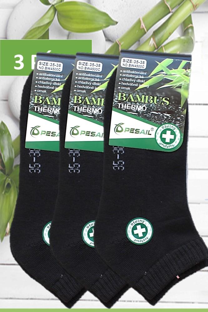 Pesail dámské bambusové termo ponožky kotníkové černé 3 páry - Bambusové  ponožky - Galanto.cz 8bdfb2cb6e