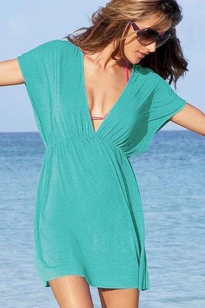 ... Dámské letní šaty na pláž tyrkysové. -20% ed1f504ed17