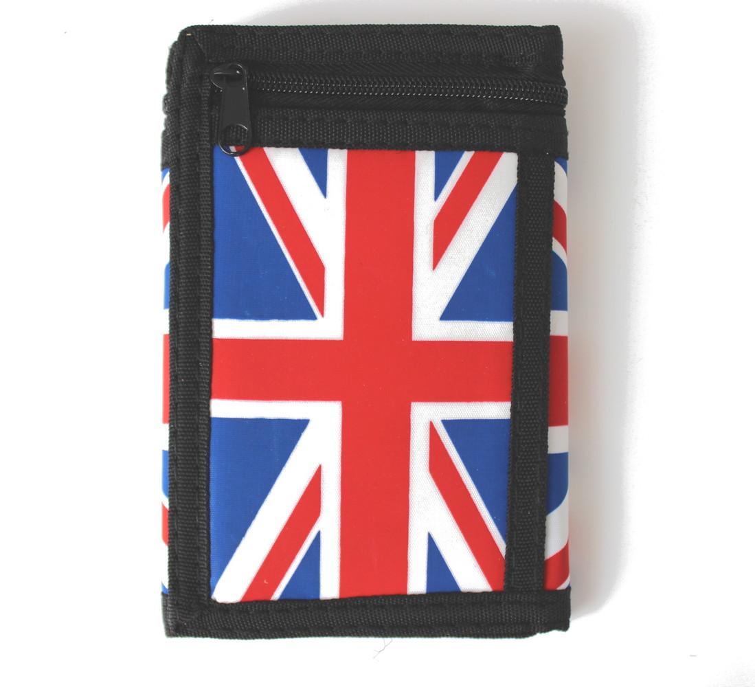 745a1c2e6fd Látková peněženka černá s potiskem Anglie a řetízkem - Sportovní peněženky  - Galanto.cz