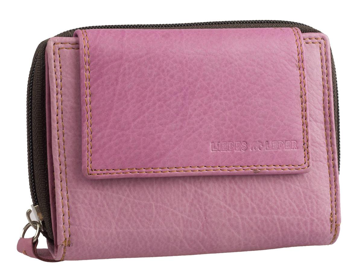 8ce2f4e7a13 Dámská luxusní kožená peněženka růžová na šířku Best Bull - DÁMSKÉ PENĚŽENKY  - Galanto.cz