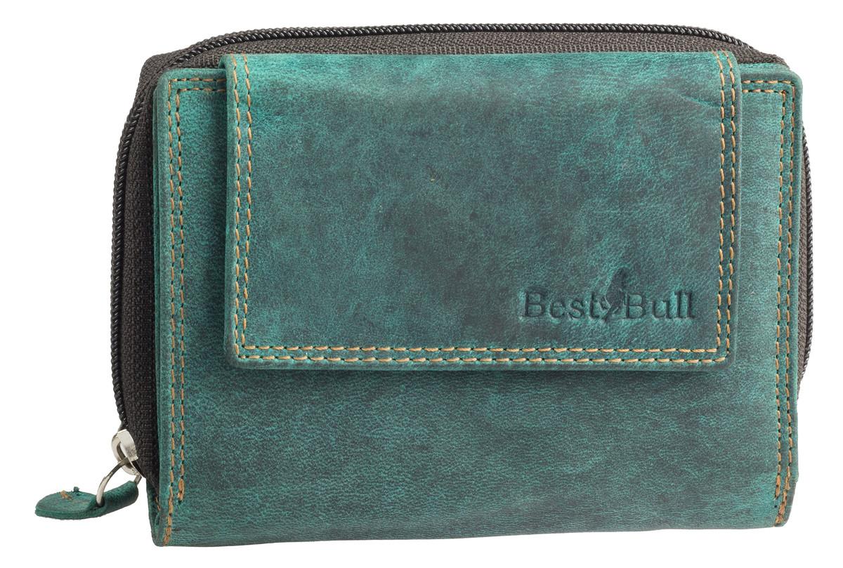 81d103311 Dámská luxusní kožená peněženka zelená na šířku Best Bull - DÁMSKÉ PENĚŽENKY  - Galanto.cz