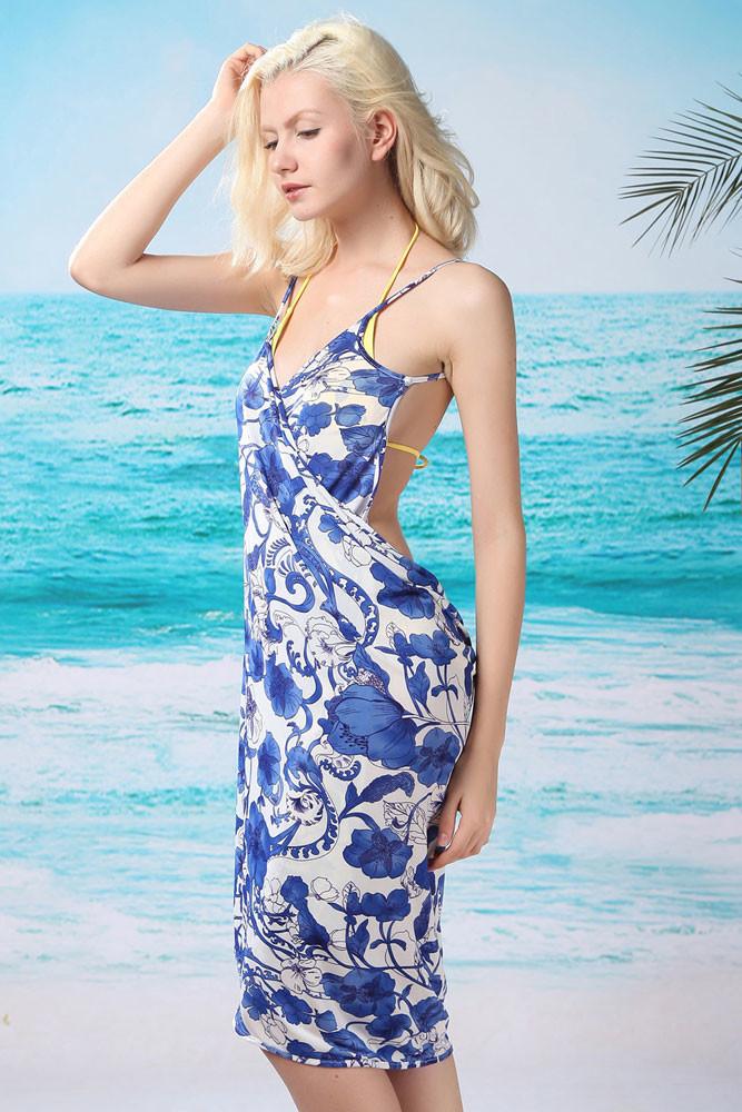 Dámské letní šaty na pláž tyrkysové  29e2e0d4731