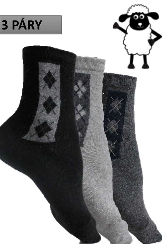 95a2b0b186d ... Pánské termo ponožky bussines z ovčí vlny 3 páry černé