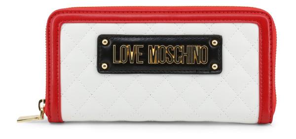 Dámská Peněženka Na Zip Love Moschino Bílá JC5615PP17LB