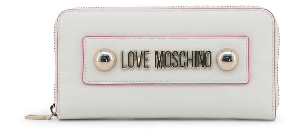 Dámská Peněženka Na Zip Love Moschino Bílá JC5649PP07KF