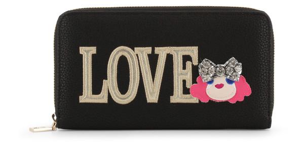Dámská Peněženka Na Zip Love Moschino Černá JC5651PP07KH