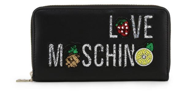 Dámská Peněženka Na Zip Love Moschino Černá JC5653PP07KL