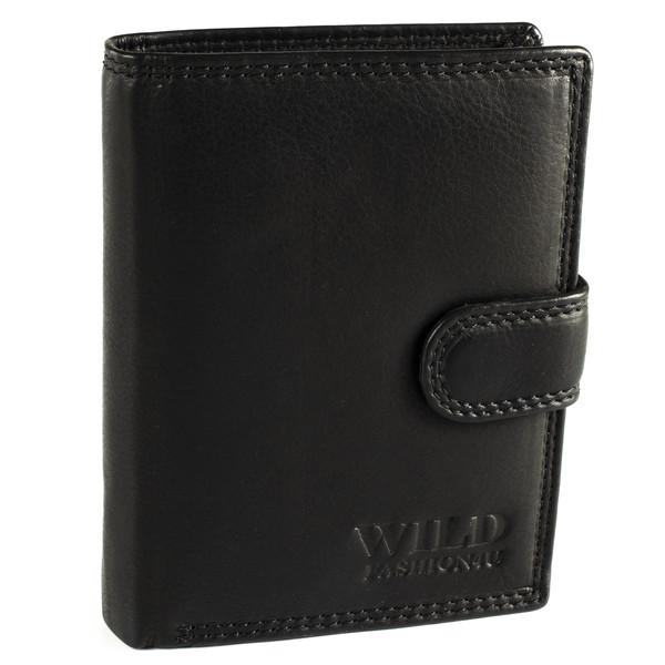 Pánská Kožená Peněženka Černá C-306-L-BL