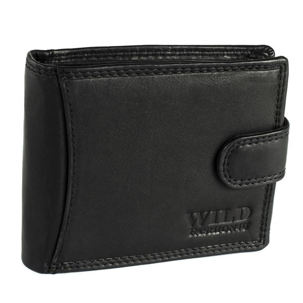 Pánská Kožená Peněženka Černá C-5600-L-BL