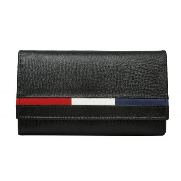 Dámská Černá Kožená Peněženka LOREN D7-MSS