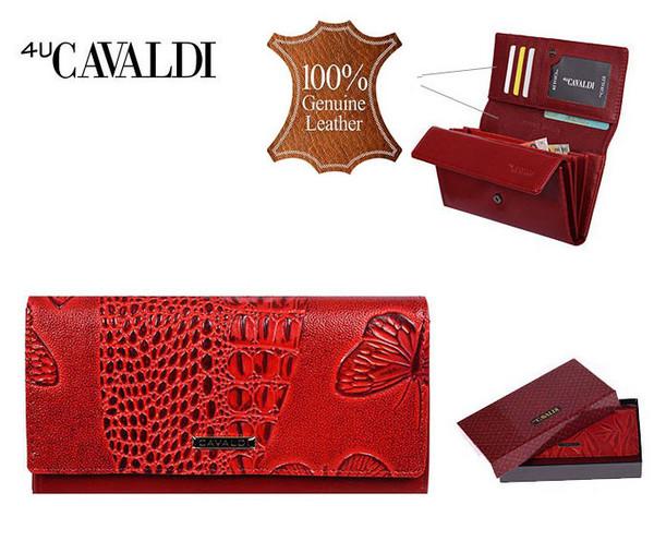 Dámská Velká Červená Peněženka Cavaldi PN22-BFC