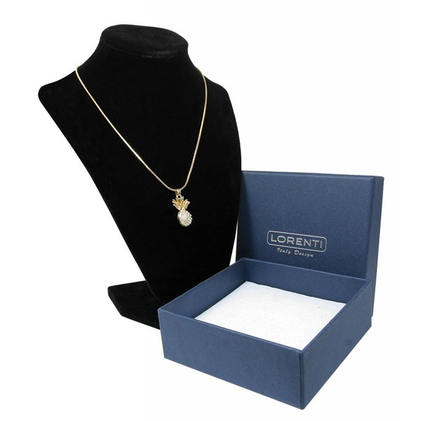 Zlatý náhrdelník s přívěskem ananasu života Lorenti 19