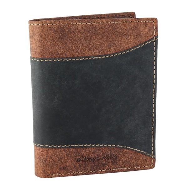 Pánská černá kožená peněženka ALWAYS WILD N4-SAF BLACK/BROWN