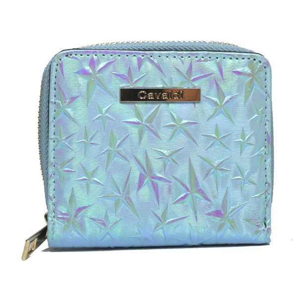 Dámská Peněženka na zip Modrá Cavaldi CHWJ-02-BLUE
