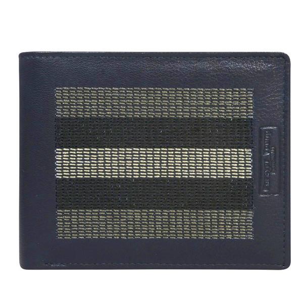 Pánská modrá kožená peněženka CAVALDI 701-EG Blue+Gray