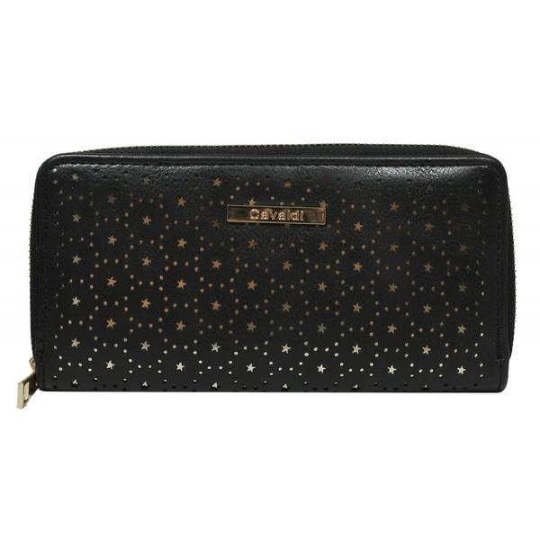 Dámská velká peněženka na zip černá Cavaldi YYXB-02