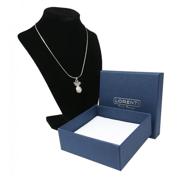 Stříbrný náhrdelník a přívěsek ananas Lorenti 19