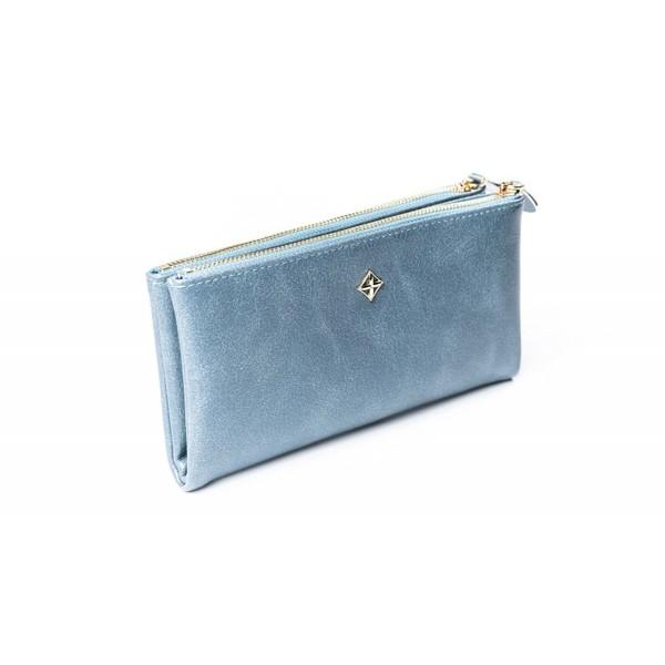 Dámská velká modrá peněženka MILANO DESIGN SF1845 ML BLACK