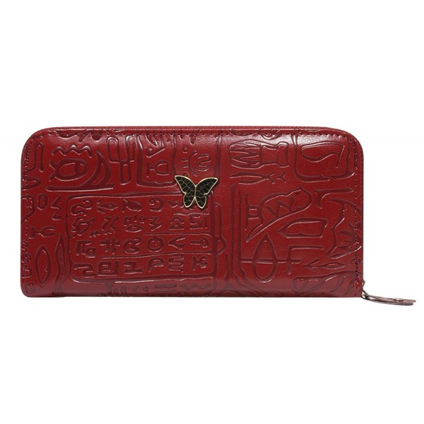 Dámská velká peněženka na zip červená1105-d.red