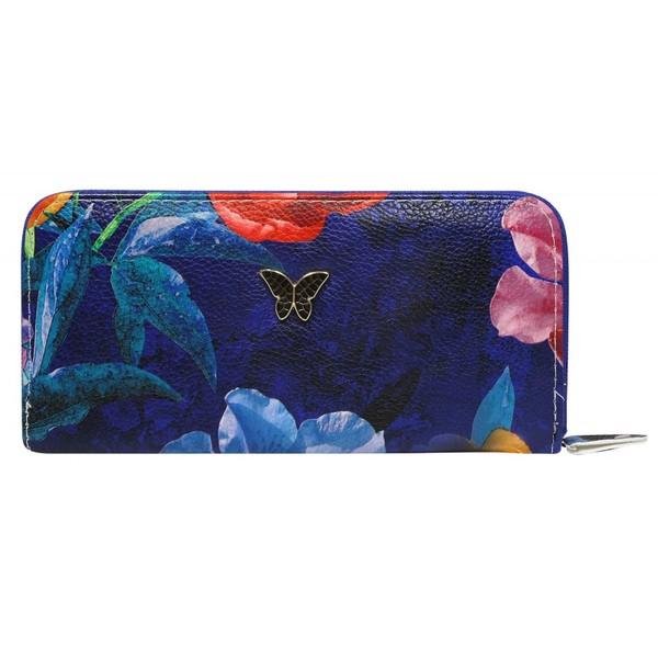 Dámská velká peněženka na zip 1105-big flowers