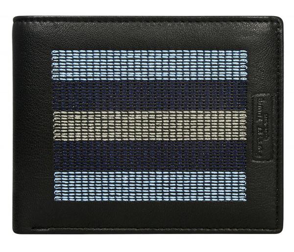 Pánská modrá kožená peněženka CAVALDI 701-EG Black/Blue