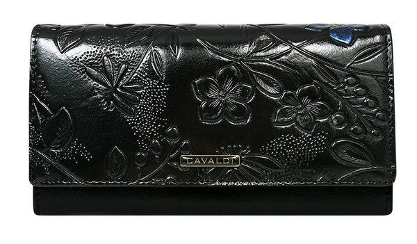 Dámská peněženka velká Cavaldi černá PN20-FL