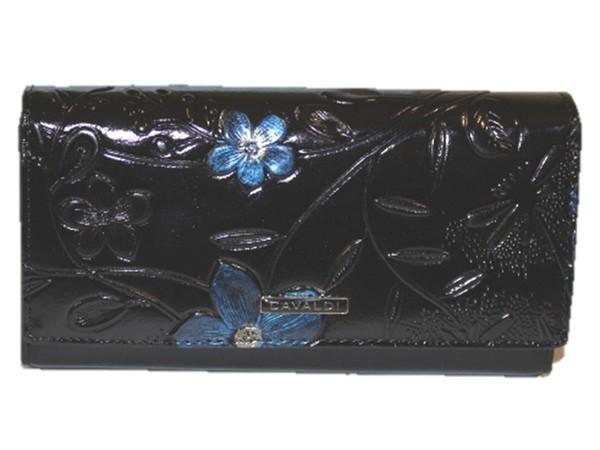 Dámská velká černá peněženka Cavaldi PN27-FL