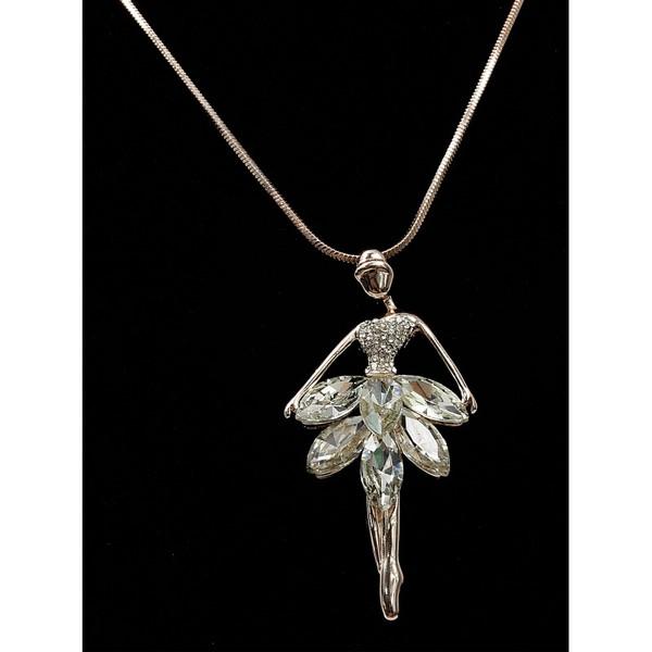 Řetízek s přívěskem víly růžové zlato s kamínky Lorenti