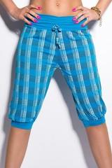 Dámské capri kalhoty modré