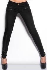 Dámské džíny úzké černé