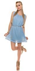 Letní dámské šaty modré