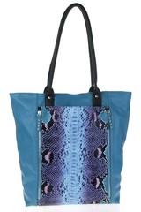 Galanto dámská kabelka s hadím potiskem modrá