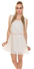 Letní dámské šaty bílé