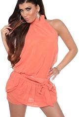 Letní šaty šifonové oranžové KouCla