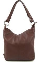 Dámská kabelka kožená středně hnědá crossbody Made in Italy