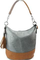 Fada Firenze dámská kabelka přes rameno šedá zdobená střapcem