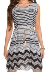 Letní šaty černé a bílé