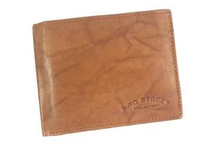 Pánská peněženka kožená Bag Street světle hnědá 992C