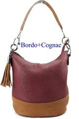 Fada Firenze dámská kabelka přes rameno bordó zdobená střapcem