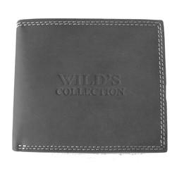 Wild's collection pánská kožená peněženka černá na šířku