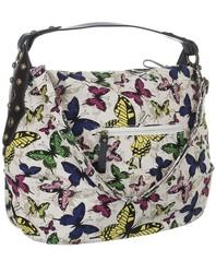 Dámská látková kabelka s motýli