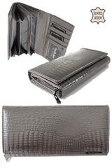 Jennifer Jones kožená velká dámská peněženka šedá 5288