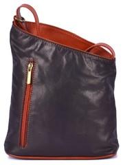 Dámská kožená kabelka crossbody Vera Pelle černá, červená