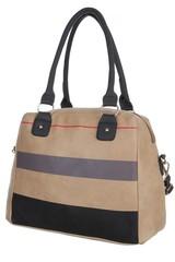 Jerry dámská kabelka přes rameno s pruhy černá,šedá, béžová