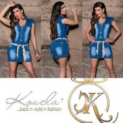 KouCla džínové šaty modré 0000K-0557