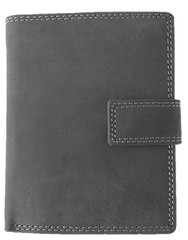 Pánská kožená peněženka Galanto černá se zapínáním na výšku