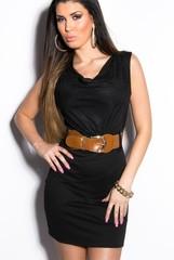 Letní šaty béžové KouCla černé