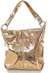 Made in Italy kožená kabelka přes rameno crossbody zlatá měděná
